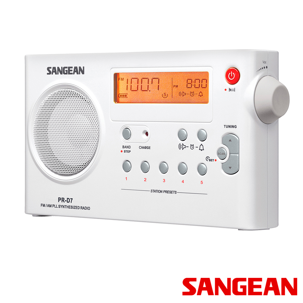 SANGEAN  二波段數位式充電收音機 PRD7