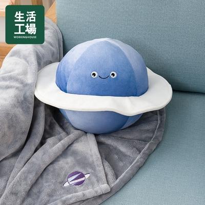 【週年慶倒數↗全館限時8折起-生活工場】SPACE星際萌怪-星球抱枕蓋毯