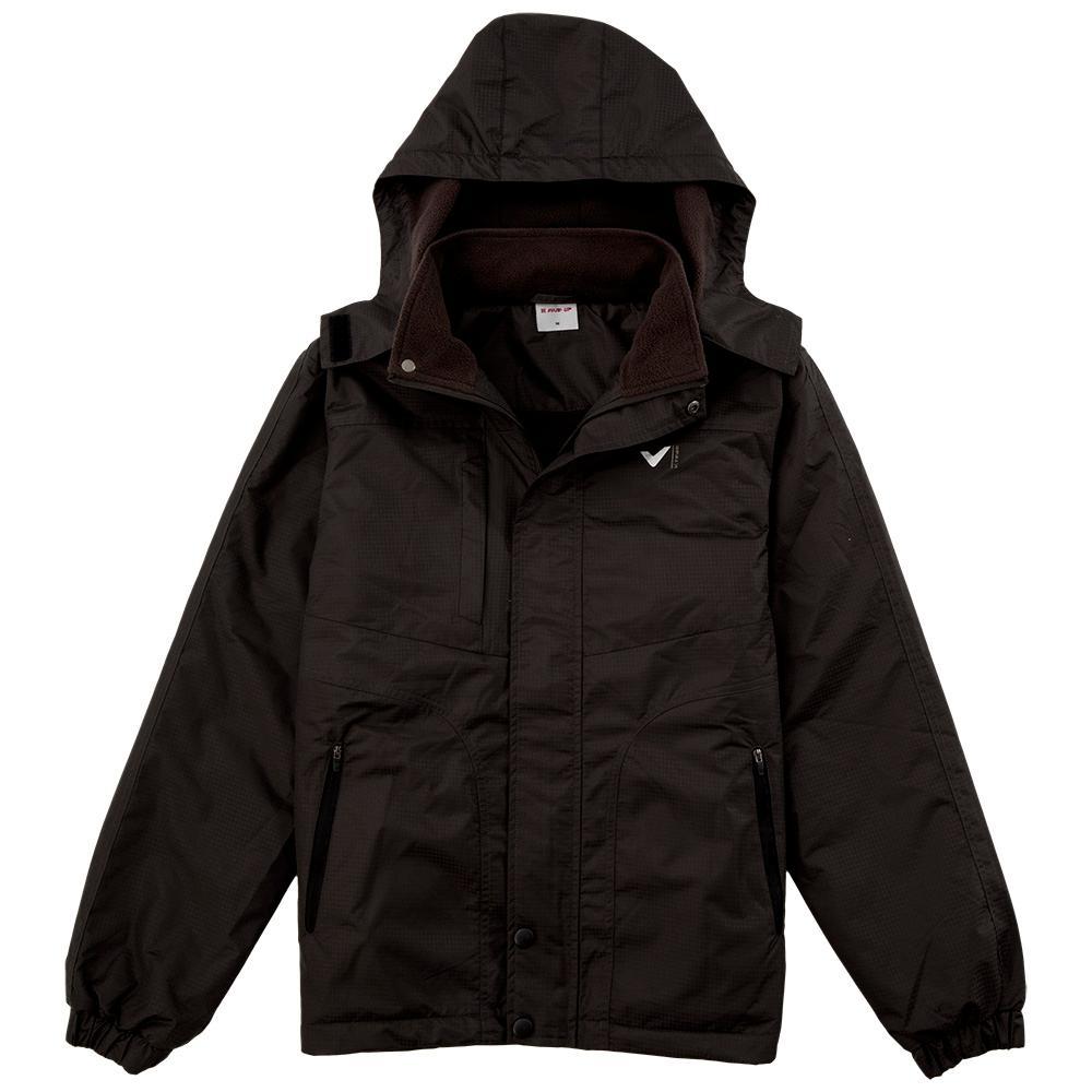 【V-TEAM】男款連帽功能性厚外套-黑
