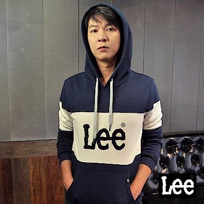 Lee 袖身色塊拼接長袖連帽TEE恤/RG