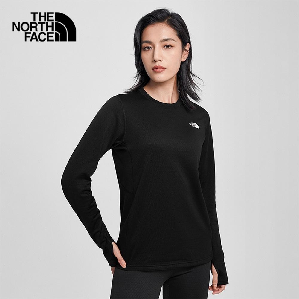 The North Face北面女款黑色吸濕排汗長袖圓領T恤|3SG5JK3