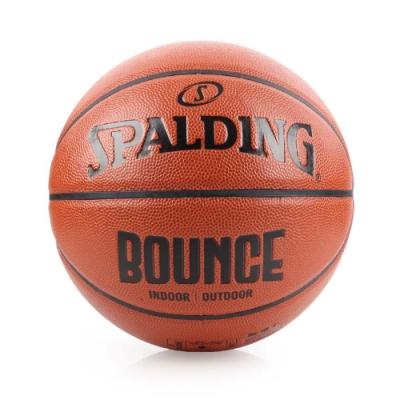 SPALDING Bounce 籃球-PU 咖啡黑