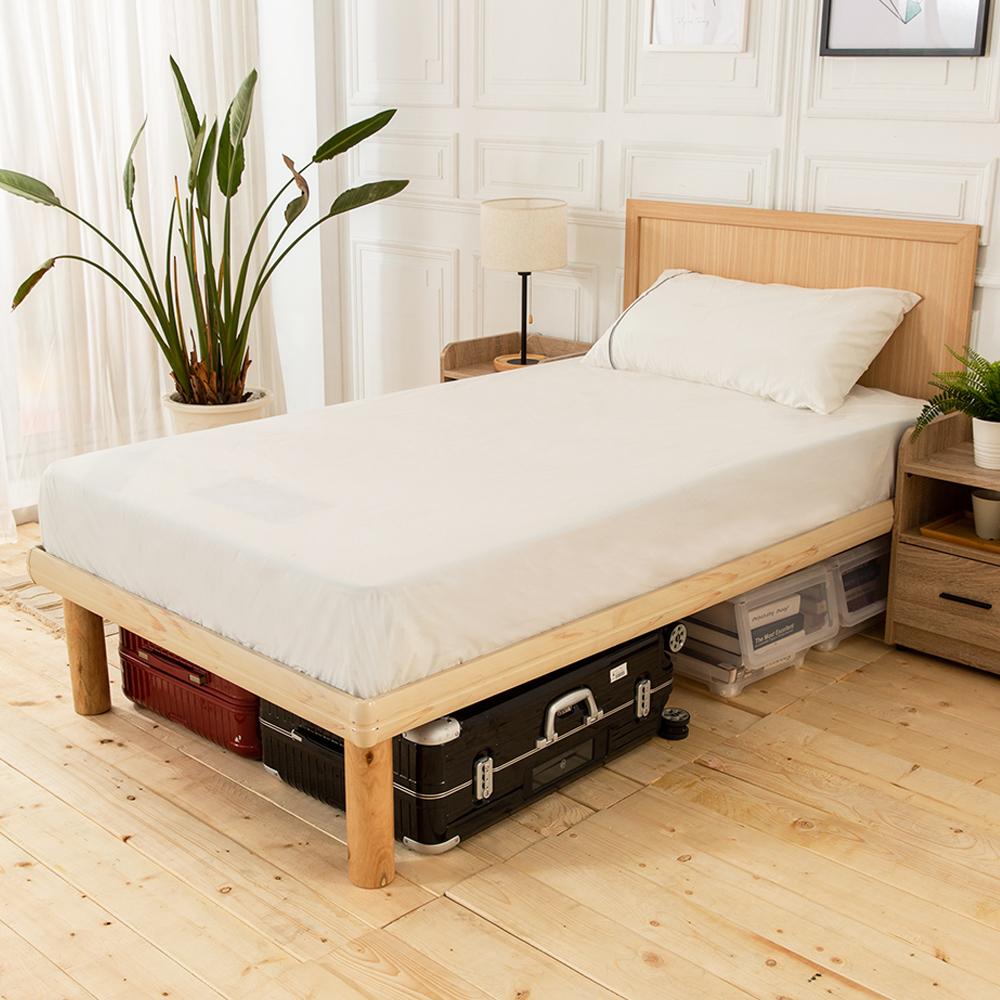 時尚屋 佐野3.5尺床片型高腳加大單人床(不含床頭櫃-床墊)
