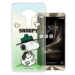 史努比ASUS ZenFone3 Deluxe ZS570KL 漸層彩繪軟式手機殼(郊遊)