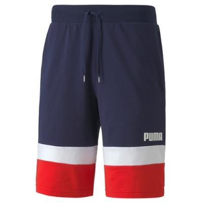 PUMA-男性基本系列Celebration撞色短褲-重深藍-歐規