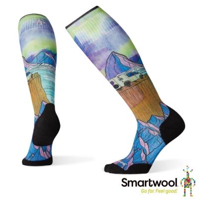 SmartWool 女 PhD滑雪輕量菁英減震型PRINT高筒襪-夢想 彩色