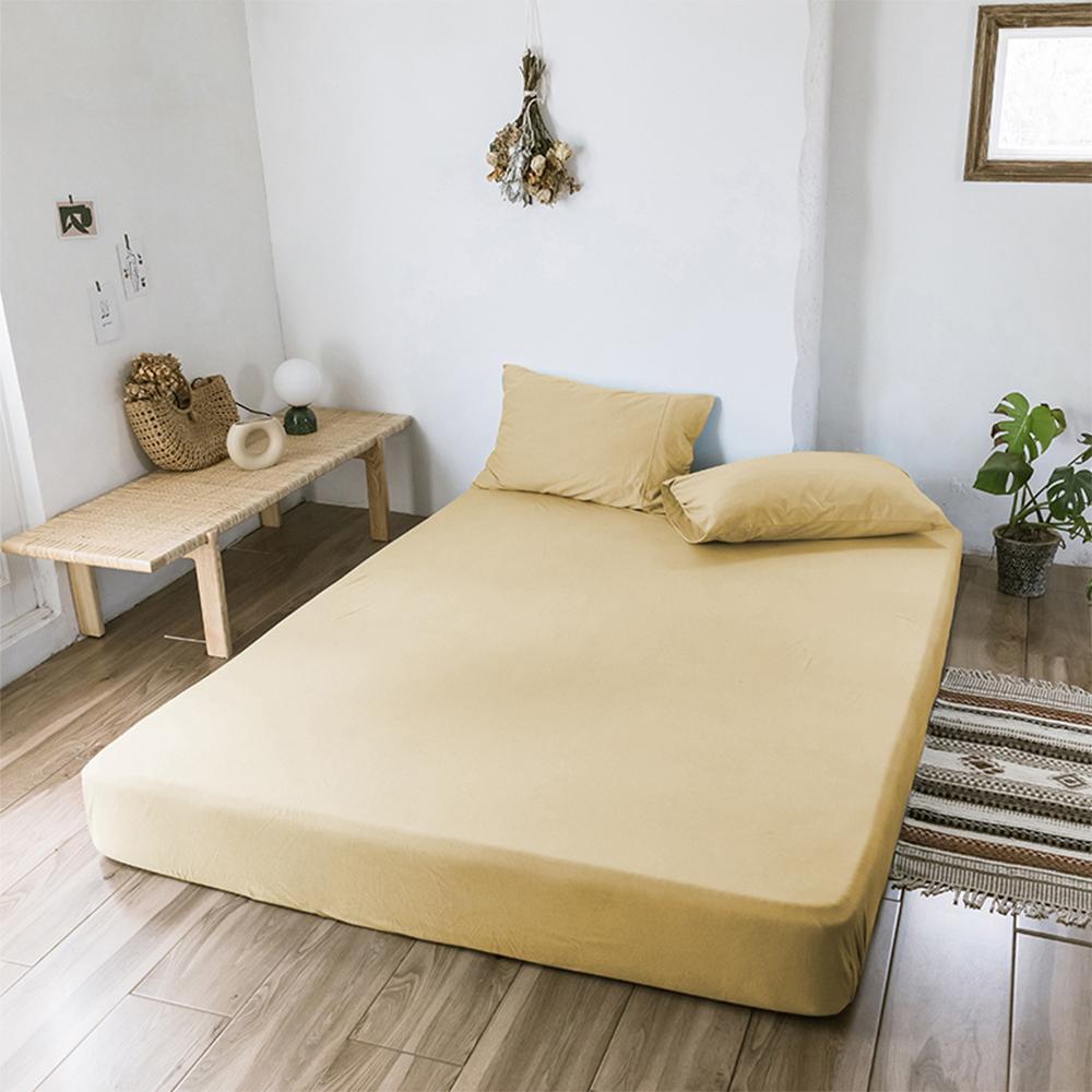 澳洲Simple Living 單人300織台灣製純棉床包枕套組(香檳金)