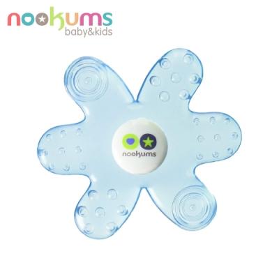 nookums 美國  寶寶可愛造型冷膠固齒器 - 藍色