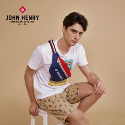 【JOHN HENRY】美式休閒腰包-藍