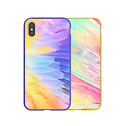 NILLKIN Apple iPhone Xs Max 幻彩玻璃手機殼