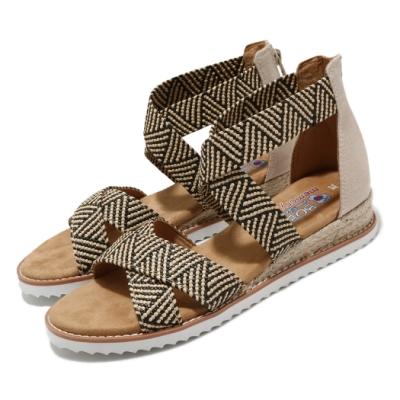 Skechers 涼拖鞋 Desert Kiss 休閒 羅馬鞋 女鞋 BOBS 公益 穿搭 夏日 泡棉鞋墊 棕 黃褐 113114NTBK