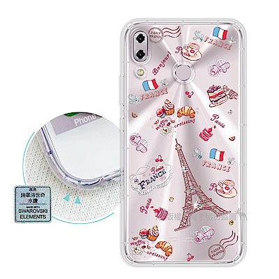 EVO ASUS ZenFone 5Z ZS620KL異國風情 水鑽空壓手機殼(甜點巴黎)
