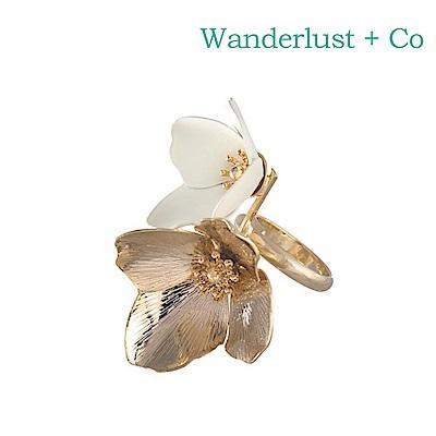 Wanderlust+Co 澳洲時尚品牌 MAIA盛開小花戒指 金色