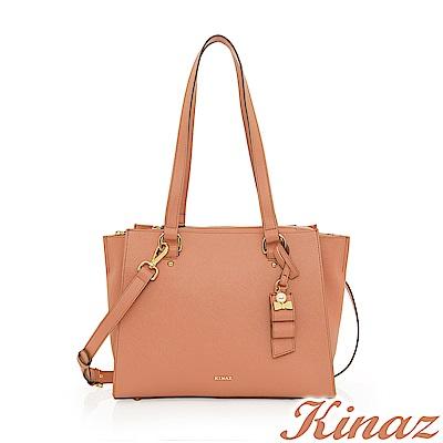 KINAZ 完美心願兩用斜背托特包-蜜桃甜粉-甜蜜禮盒系列-快