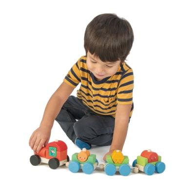 Tender Leaf Toys木製家家酒玩具-歡樂園藝拖車玩具