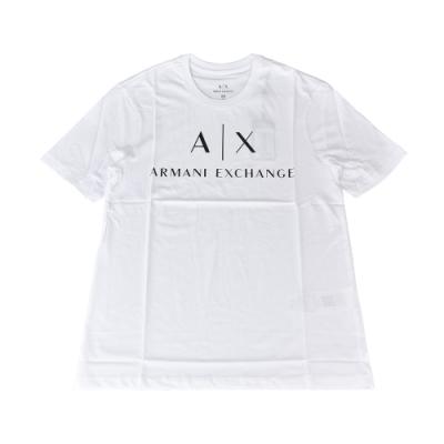 A│X Armani Exchange經典字母LOGO造型純棉短T(XS/S/M/L/白x黑字)