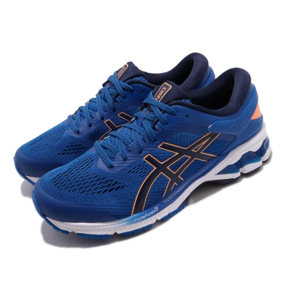 Asics 慢跑鞋 Gel Kayano 26 運動 男鞋 亞瑟士 路跑 高支撐 緩震 亞瑟膠 藍 橘 1011A541402
