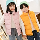 【Incare】優質羽絲絨極暖兒童立領背心(6色可選)