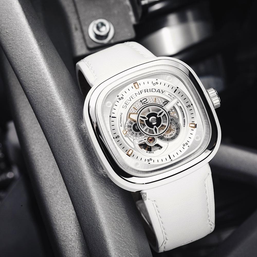 (無卡分期12期)SEVENFRIDAY P1C-01 系列 設計師工藝自動上鍊機械錶