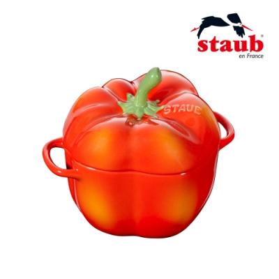法國Staub 彩椒造型琺瑯陶缽 12cm 紅色