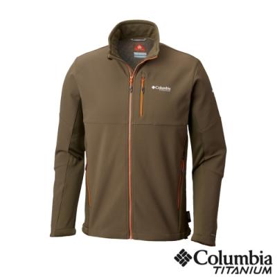 Columbia 哥倫比亞 男款-鈦 防潑保暖軟殼外套-軍綠UAE05040AG