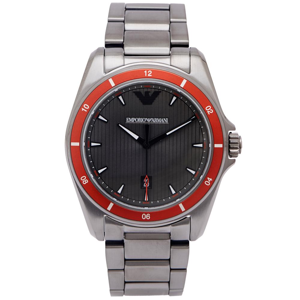 EMPORIO  ARMANI 灰色時尚風格手錶(AR11178)-灰黑面/42mm