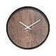 樂嫚妮 簡約仿木紋掛鐘/時鐘/12吋/低噪-棕木紋色 product thumbnail 1