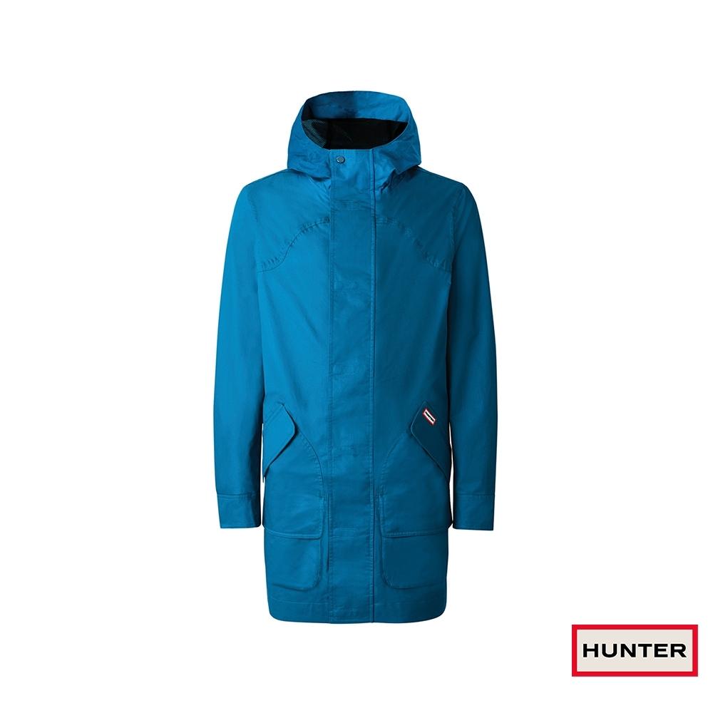 HUNTER - 男裝-棉質獵裝連帽外套 - 藍