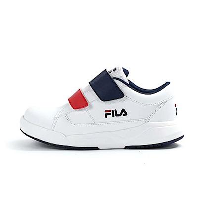 FILA 韓系運動鞋 白藍紅 大童(6~12歲) 3-C402U-123