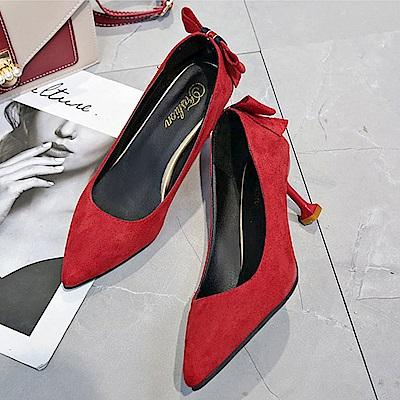 KEITH-WILL時尚鞋館 狂賣千雙渡假氣息高跟鞋-紅色