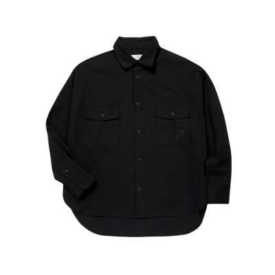 FILA #日潮攻略首部曲 平織襯衫-黑色 1WSU-1430-BK
