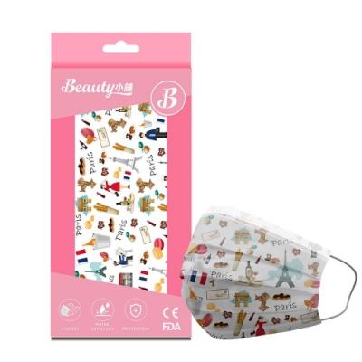 Beauty小舖 印花3層防護口罩-法式浪漫(10入/盒)