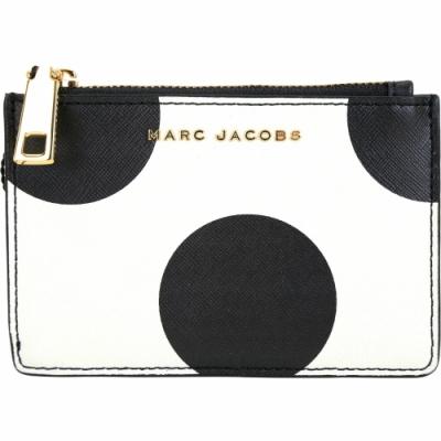 MARC JACOBS 黑白圓點印花鑰匙/零錢包