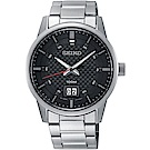 SEIKO精工 CS簡約大日期視窗腕錶(SUR269P1)-黑x銀/40mm
