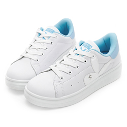 PLAYBOY 簡約仿皮綁帶休閒鞋-白藍-Y52201F