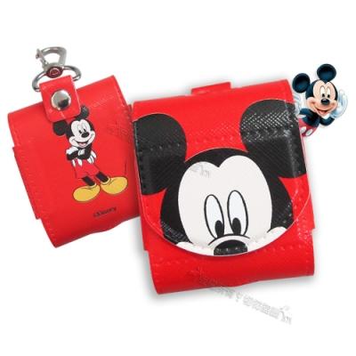 迪士尼授權 Airpods 皮革質感 藍牙耳機盒保護套 1/2代通用款(米奇)