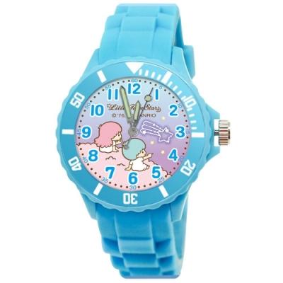 Sanrio三麗鷗二代中型運動彩帶錶34mm雙星仙子(天藍)