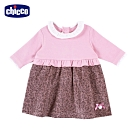 chicco-夢幻艾瑪-小碎花絨布剪接洋裝