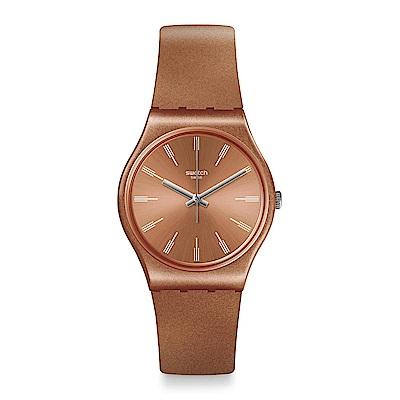 Swatch SANDBAYA 閃耀古銅手錶