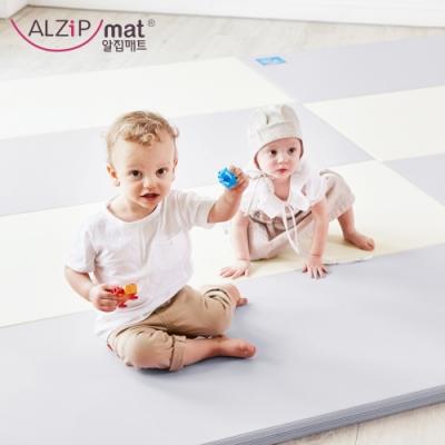 【ALZiPmat】韓國手工製 時尚經典四折折疊墊 - 經典雙色灰