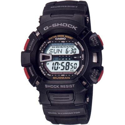 G-SHOCK 馬力歐越野賽車錶(G-9000-1)-黑/46.3mm