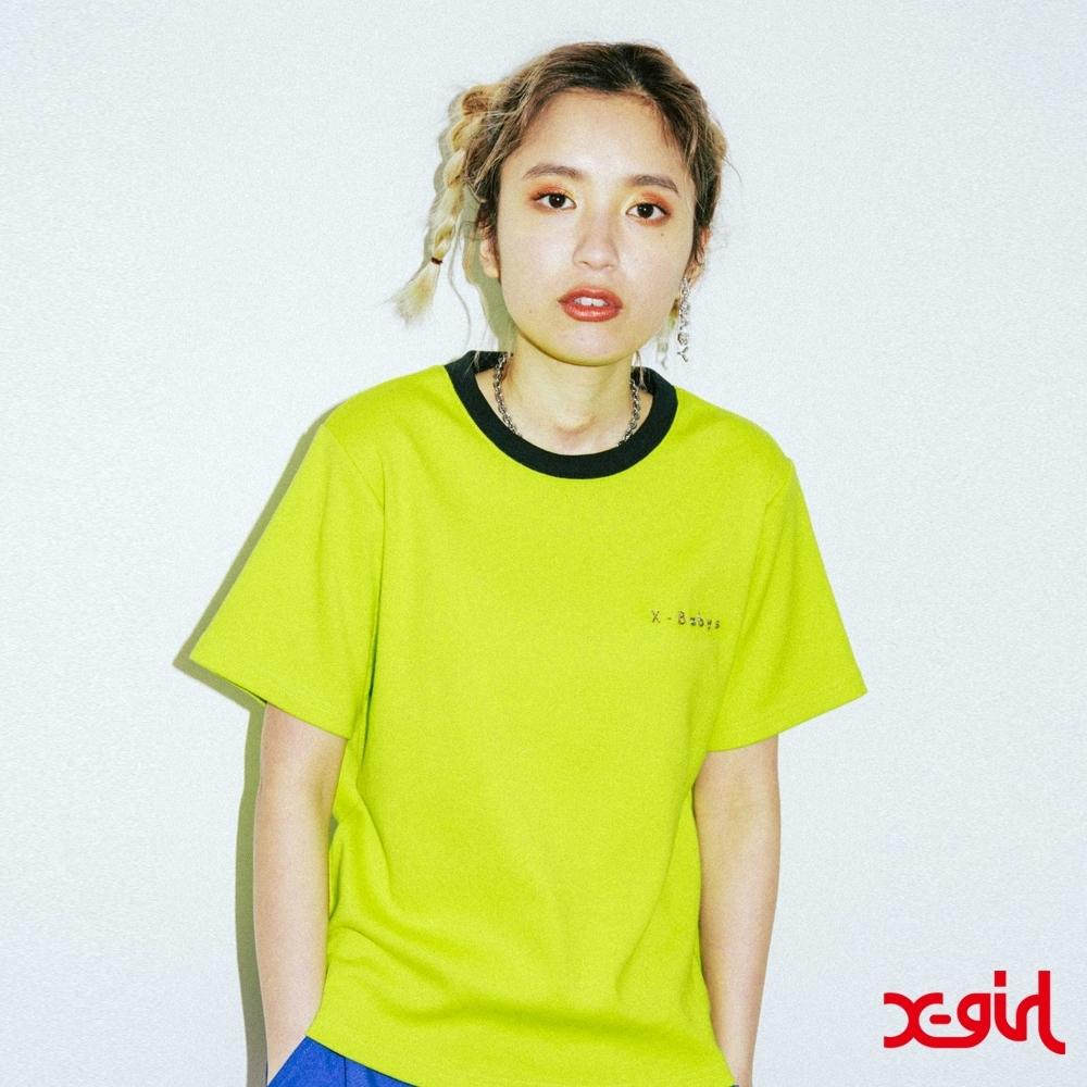 X-girl XGBS SOLID TEE短袖T恤-亮綠