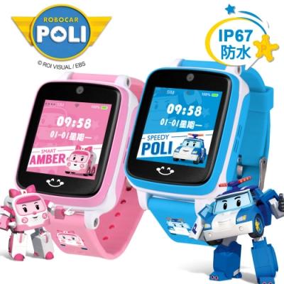 (結帳再折)ROBOCAR POLI 波力安寶 IS愛思 4G LTE定位關懷兒童智慧手錶