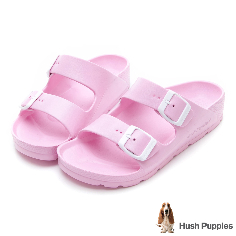 Hush Puppies 巴吉度輕量休閒拖涼鞋-淺粉