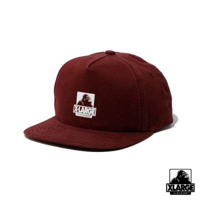 XLARGE OG 5PANEL CAP-五分割帽-酒紅