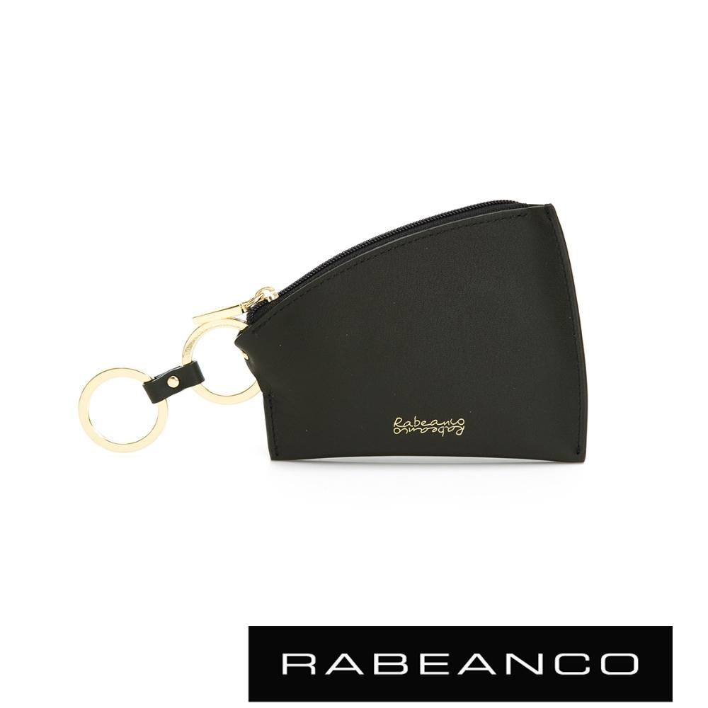 RABEANCO 迷時尚系列帆型牛皮零錢包 墨綠