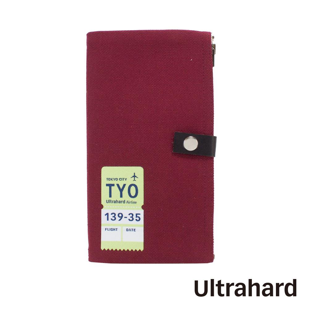 Ultrahard Traveler系列雙拉鍊筆袋-東京TYO(紅)