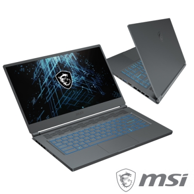 MSI微星 Stealth15M A11UEK-088TW 石磨灰(i7-11375H/16G/RTX3060-6G/1TB SSD/Win10)