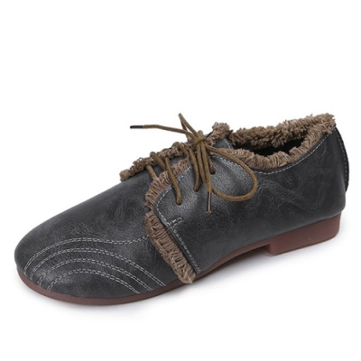 KEITH-WILL時尚鞋館 特惠款歐美復古休閒鞋-深灰