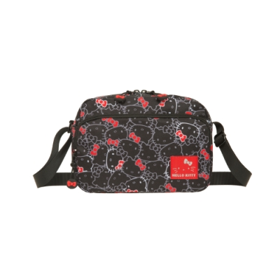 【Hello Kitty】繽紛凱蒂-側背包-黑 KT01V02BK